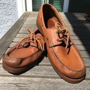 Bass Seafarer Leather Boat Shoes 10.5 W